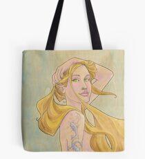 Tattooed Mermaid Tote Bag