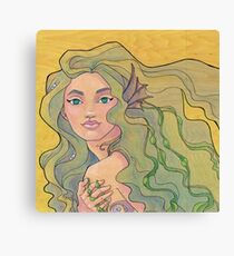 Tattooed Mermaid 12 Canvas Print