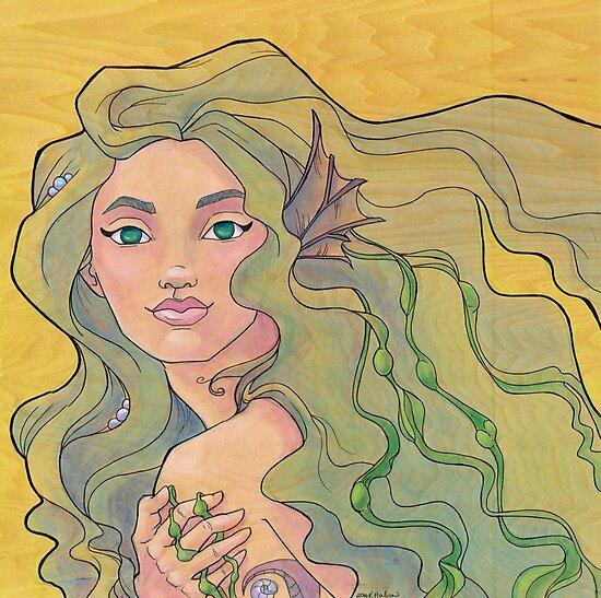 Tattooed Mermaid 12 by Karen  Hallion