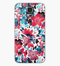 Glückliche rote Blumen-Collage Hülle & Klebefolie für Samsung Galaxy