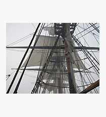 The Fog and Sails Photographic Print