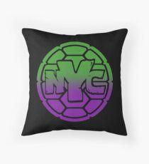 Turtles - NYC  Throw Pillow