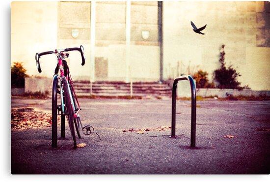 Abandoned bike by Sharonroseart