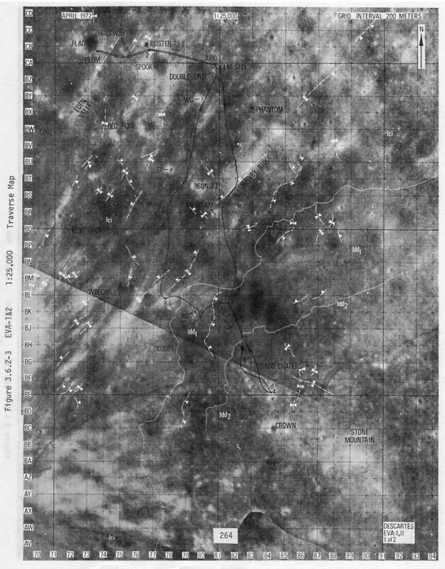 """Apollo 16 - Moon Landing Site Map - a16.lsp264"" Art ..."