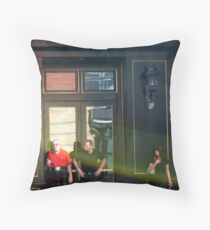 Waiting for a Cab Throw Pillow