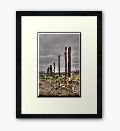 Timber Groynes (HDR using Photomatix) Framed Print