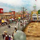 City - Atlantic City NJ - Steel Pier 1909 by Michael Savad