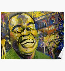 """""""Satchmo"""" (Jazzy Cake Paint) Poster"""