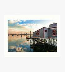 Boothbay Harbor Footbridge Art Print