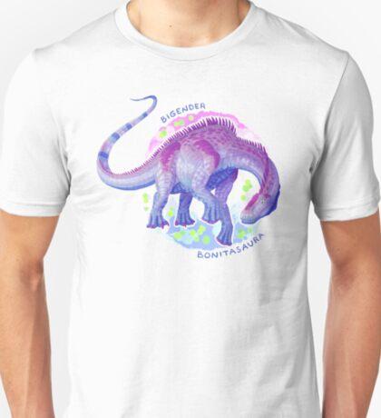 Bigender Bonitasaura (with text) T-Shirt