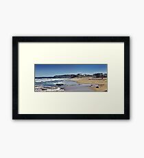 Bar Beach Panorama Framed Print