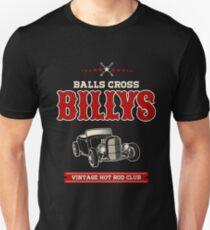 Balls Cross Billys - Centered - Dunkle Kleidungsstücke Slim Fit T-Shirt
