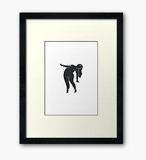 Female Figure Leaning Framed Print