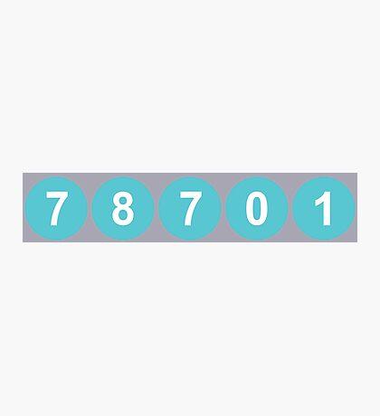 78701 Austin Zip Code Photographic Print