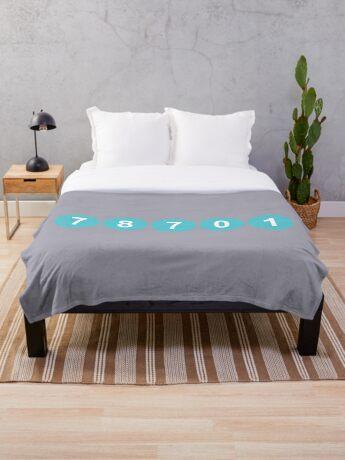 78701 Austin Zip Code Throw Blanket