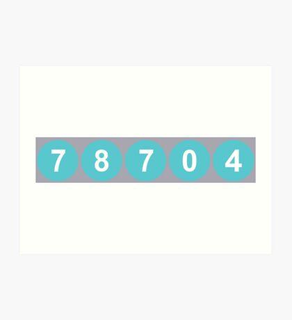 78704 Austin Zip Code Art Print