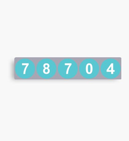 78704 Austin Zip Code Canvas Print