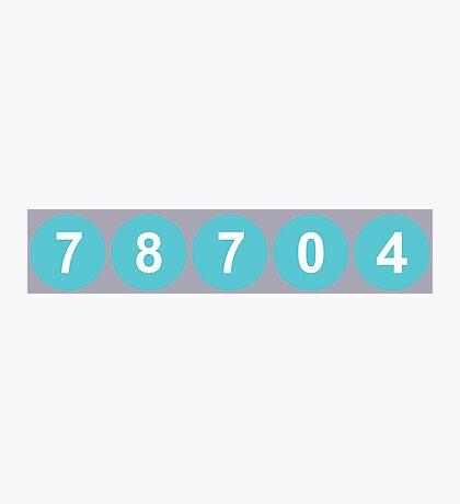 78704 Austin Zip Code Photographic Print