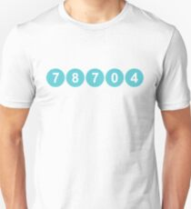 78704 Austin Zip Code Slim Fit T-Shirt