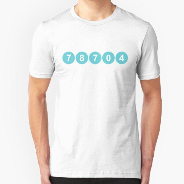 78704 Austin Zip Code Slim Fit T-Shirt
