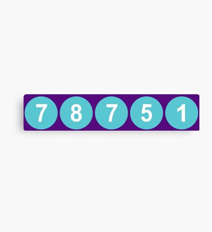 78751 Austin Zip Code Canvas Print