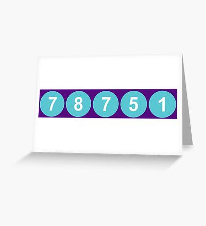 78751 Austin Zip Code Greeting Card