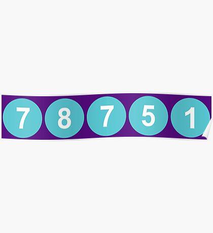 78751 Austin Zip Code Poster