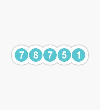 78751 Austin Zip Code Sticker