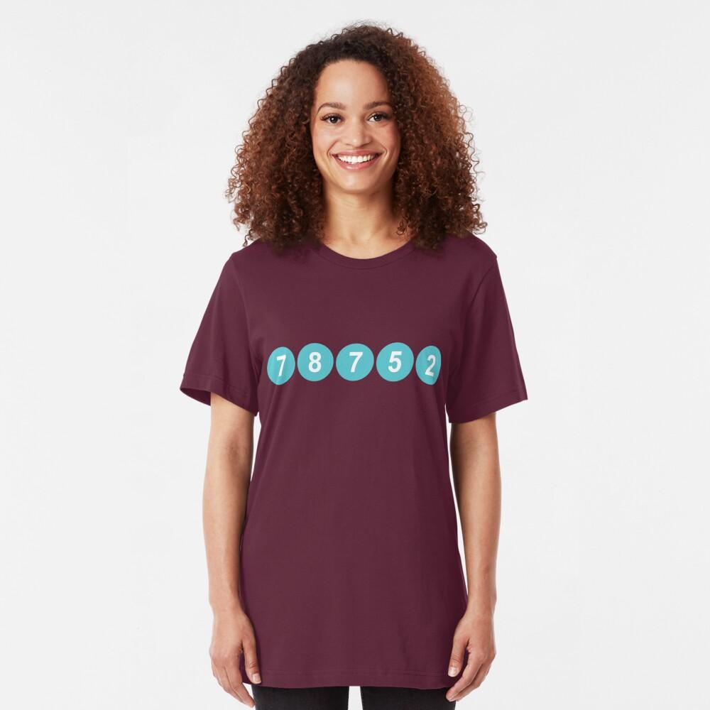 78752 Austin Zip Code Slim Fit T-Shirt
