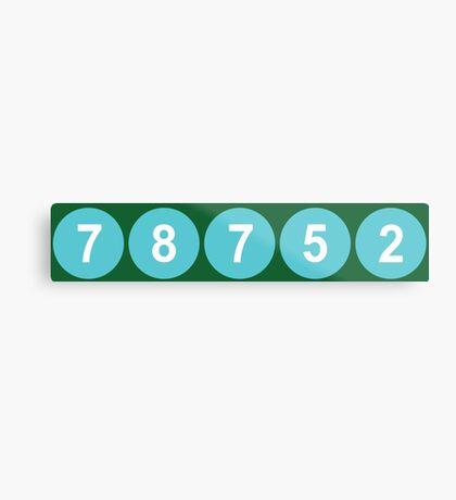 78752 Austin Zip Code Metal Print