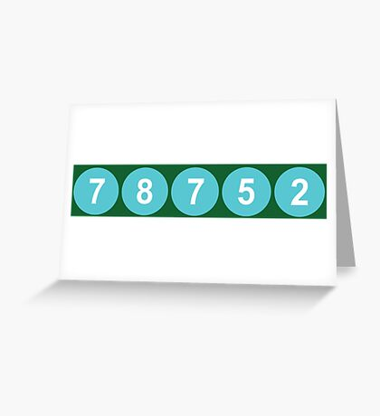78752 Austin Zip Code Greeting Card