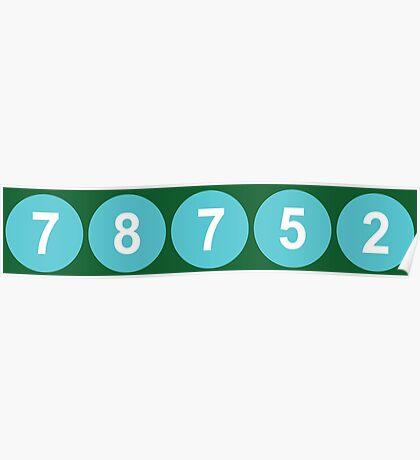 78752 Austin Zip Code Poster