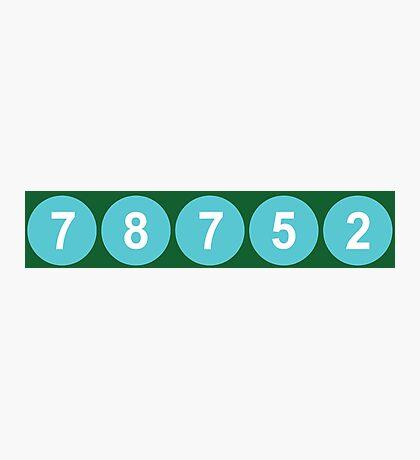 78752 Austin Zip Code Photographic Print