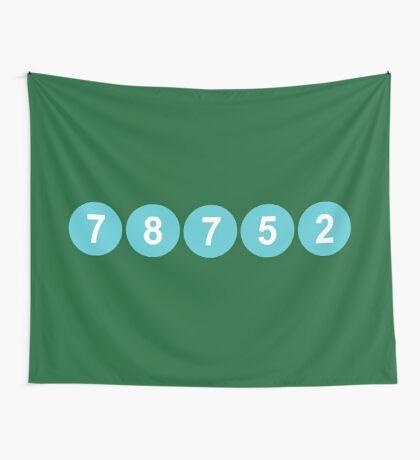 78752 Austin Zip Code Wall Tapestry