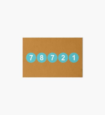 78721 Austin Zip Code Art Board Print
