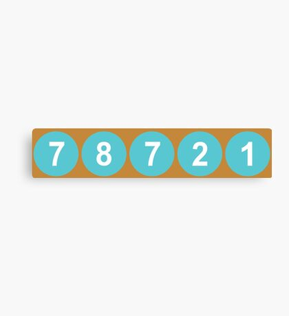 78721 Austin Zip Code Canvas Print