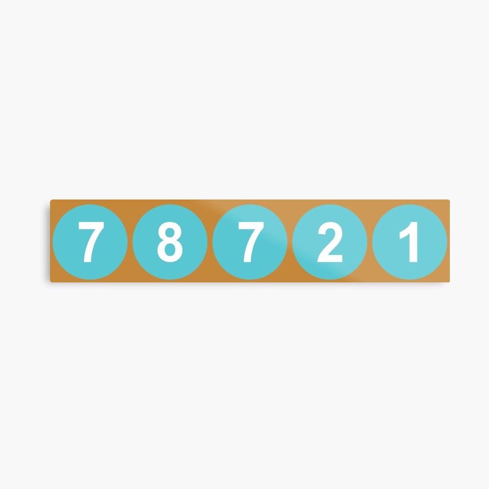 78721 Austin Zip Code Metal Print