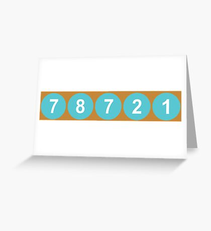 78721 Austin Zip Code Greeting Card