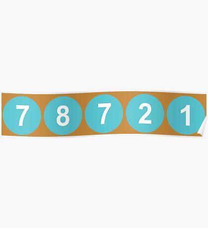 78721 Austin Zip Code Poster