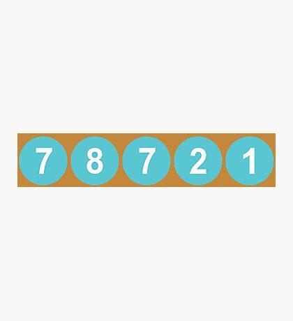 78721 Austin Zip Code Photographic Print