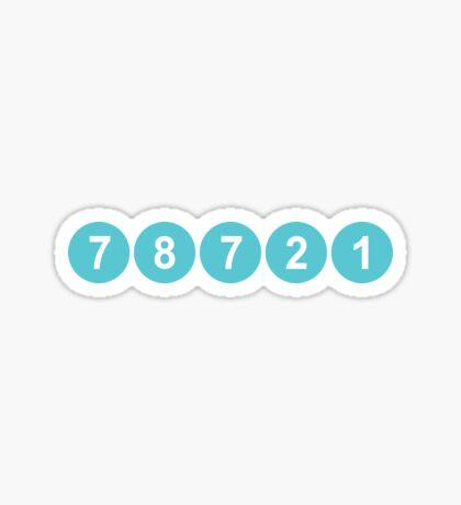 78721 Austin Zip Code Sticker