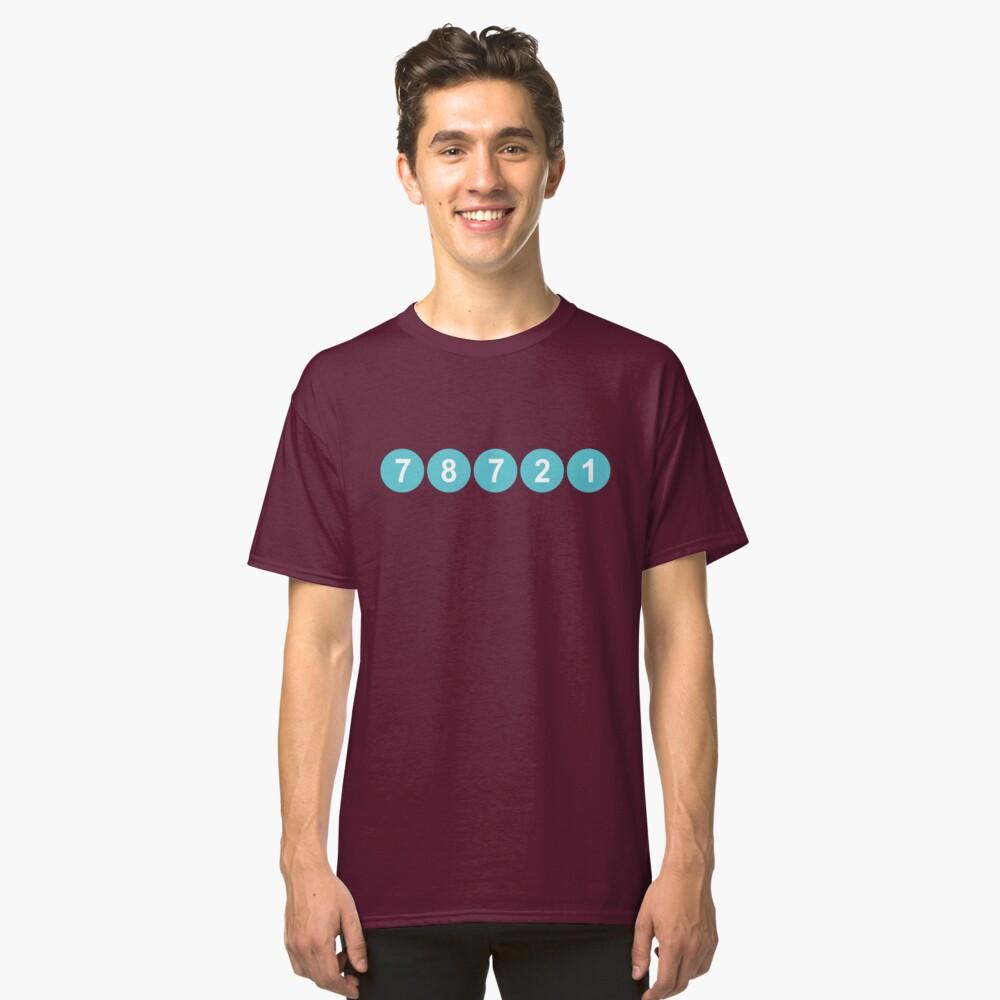 78721 Austin Zip Code Classic T-Shirt