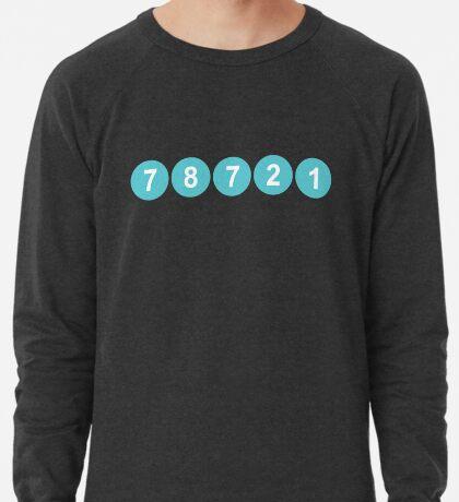 78721 Austin Zip Code Lightweight Sweatshirt