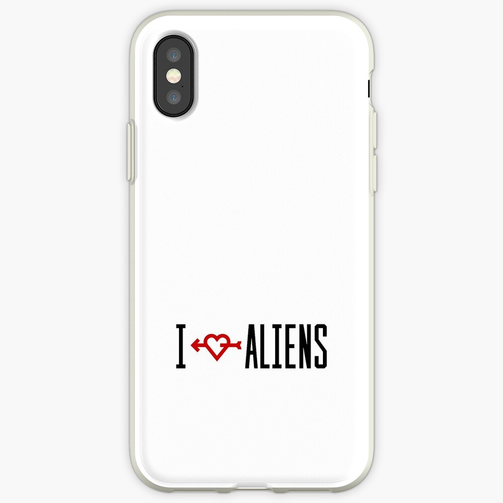 I LOVE ALIENS iPhone-Hülle & Cover