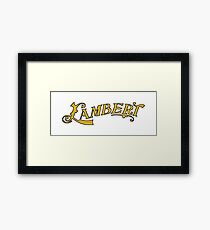 Classic Cars: Lambert automobile Framed Print