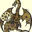 Clockwork Dragon Silhouette by ferinefire