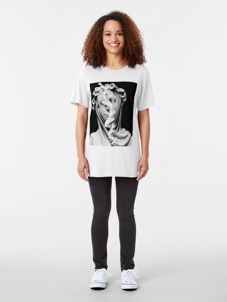 Alternate view of Being Young And Dipped In Folly, I Fell In Love With Melancholy Slim Fit T-Shirt