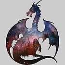 Deep Space Dragon Silhouette by ferinefire