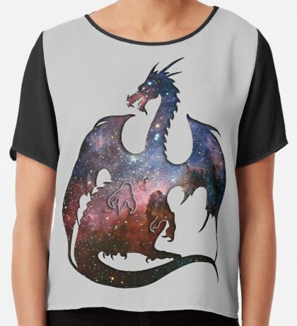 Deep Space Dragon Silhouette Chiffon Top