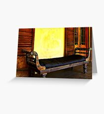 Old Leather Recliner Greeting Card